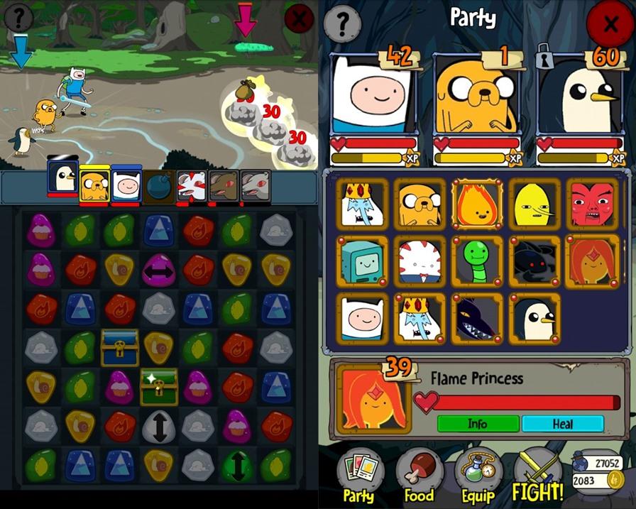 adventure-time-puzzle-quest-1 Melhores Jogos para Android Grátis - Julho de 2015