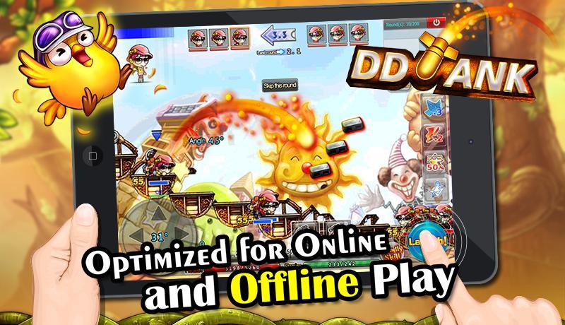 dd-tank-offline-game-android-1 DDTank: sucesso das Lan Houses chega ao Android com direto a jogatina offline