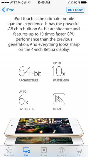 ipod-touch-6-geracao-3 O iPod Touch ganha versão renovada com chip A8 e 1GB de RAM
