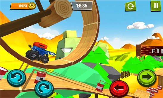 monster-truck-unleashed Monster Trucks Unleashed: Faça acrobacias com carrinhos no Android, iOS e Windows Phone