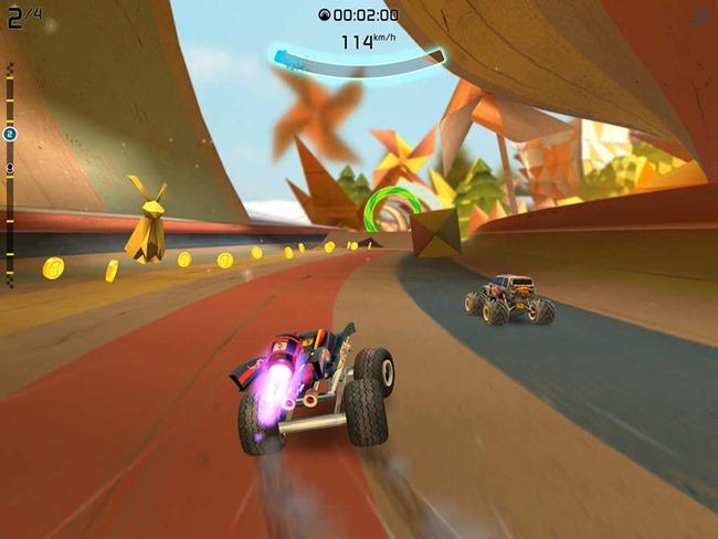 rocketcars 25 Melhores Jogos Grátis para iPhone e iPad - 1º Semestre de 2015