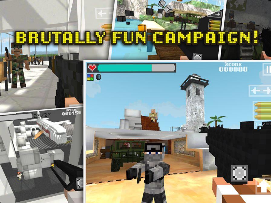 block-gun Jogos de Minecraft: 10 games para Android parecidos ou inspirados no clássico