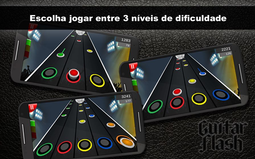 guitar-flash-android Guitar Flash: Clone de Guitar Hero para Android traz bandas nacionais