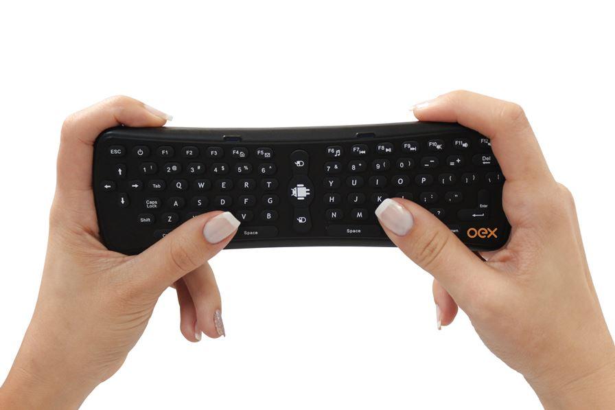 oex-controle-airmouse-CK103 OEX lança controle Air Mouse para SmartTV, Android e até PC