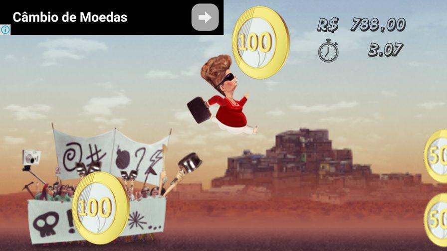 """zilma-jogo-android-protestos Corrupção é tema de jogo para Android que traz a presidente """"Zilma"""""""
