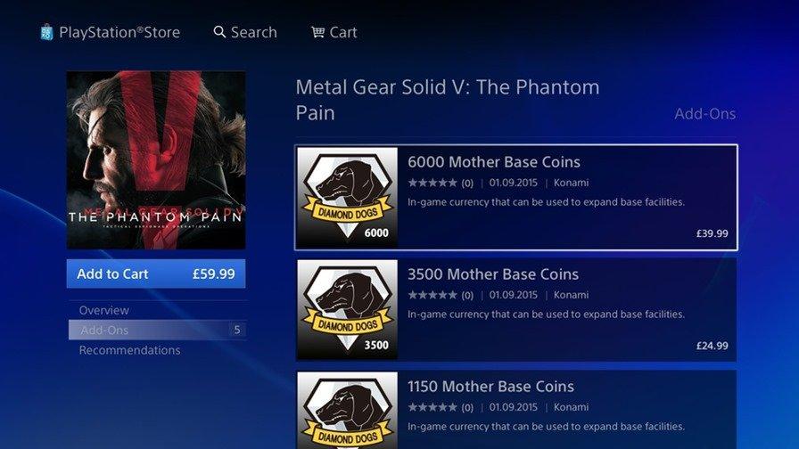 mgs-v-mobile-microtransactions Metal Gear Solid V é um jogo para celular?