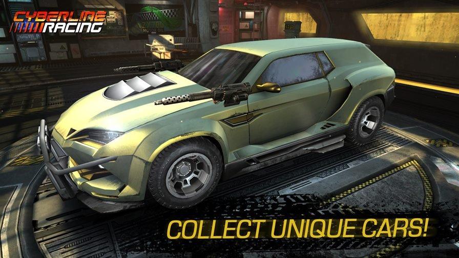 """cyberline-racing-android Cyberline Racing é um jogo de corrida para Android no estilo """"Death Race"""""""