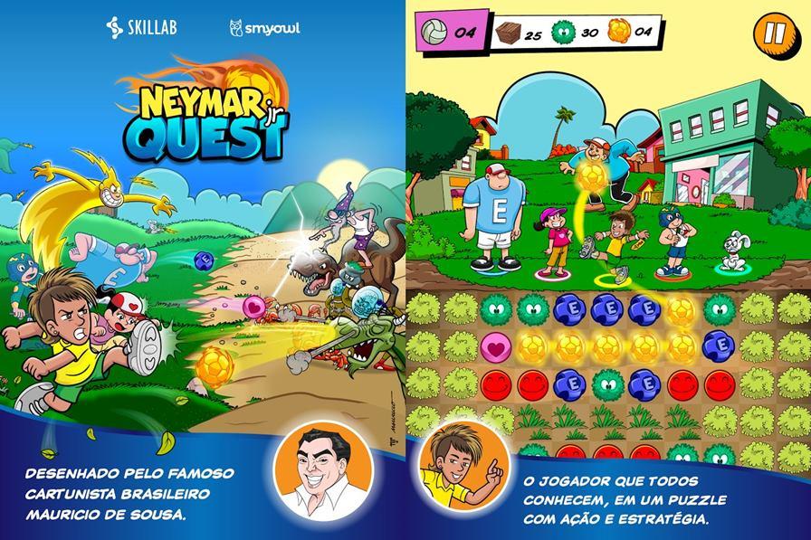 neymar-jogo-android-ios-windows-phone-1 Neymar Jr Quest é novo game do craque com traço de Mauricio de Sousa