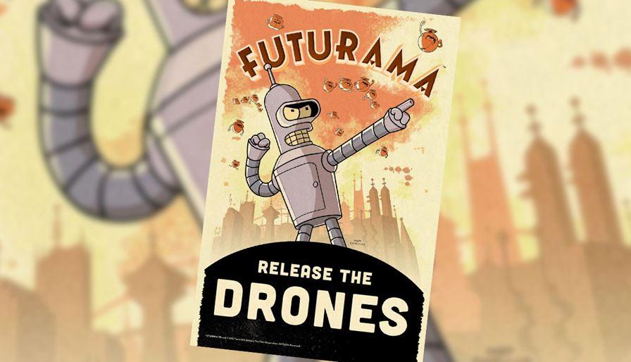 futurama_drones Jogo de Futurama para já pode ser considerado a decepção do ano