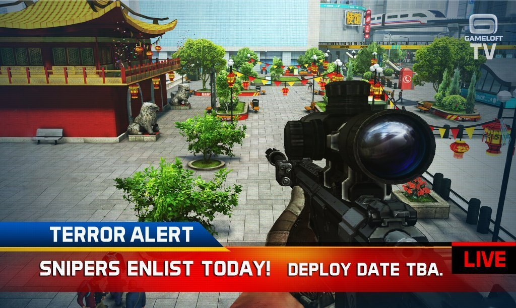 sniper-fury-3 Ícone e imagens de Sniper Fury, o novo game de tiro da Gameloft (Android, iOS e Windows Phone)