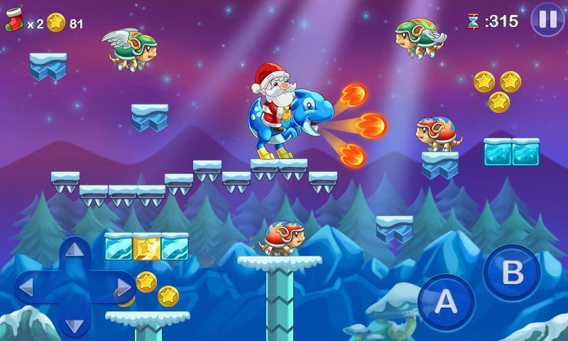 mega-santa-super-mario-noel-android Jogo no estilo 'Super Mario World' estrelado pelo Papail Noel faz sucesso no Android