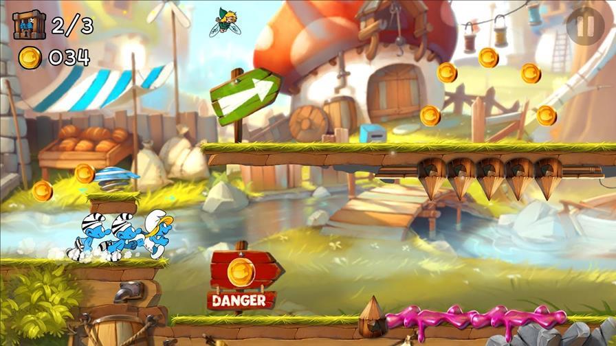 smurfs-epic-run-android Smurfs Epic Run é um jogo casual da Ubisoft para Android e iOS
