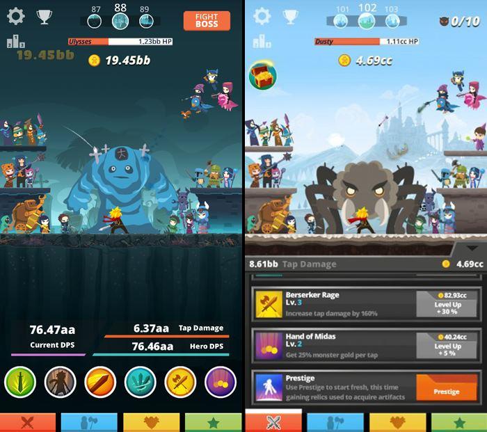 tap-titans-1 Tap Titans é o jogo offline para encarar monstros apenas tocando na tela do celular