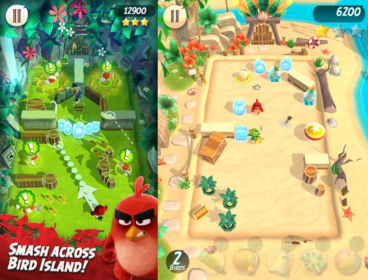 angry-birds-action-ios-1 Com personagens do filme, Angry Birds ACTION! está em teste no iOS