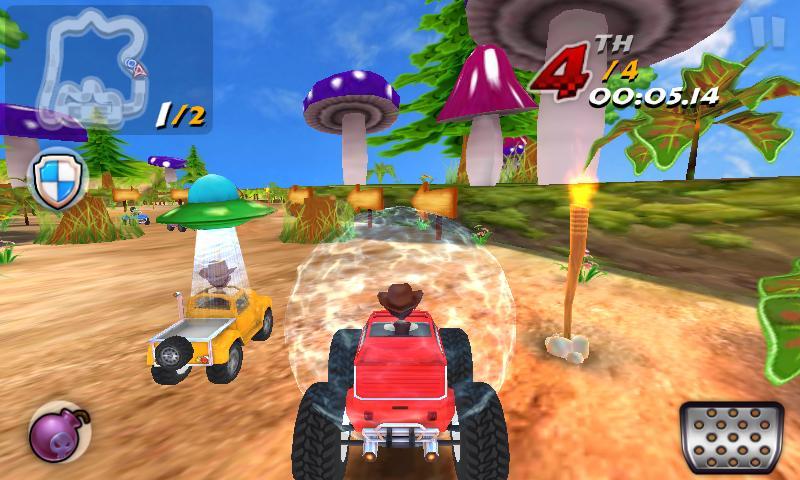 """corrida-kart-3d-android Corrida de Kart 3D é o game de kart para quem tem """"Celular Fraco"""""""