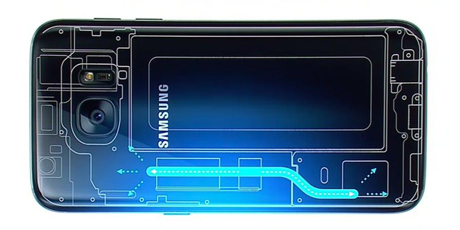 resfriament-galaxy-s7 Samsung Galaxy S7 possui Resfriamento Líquido