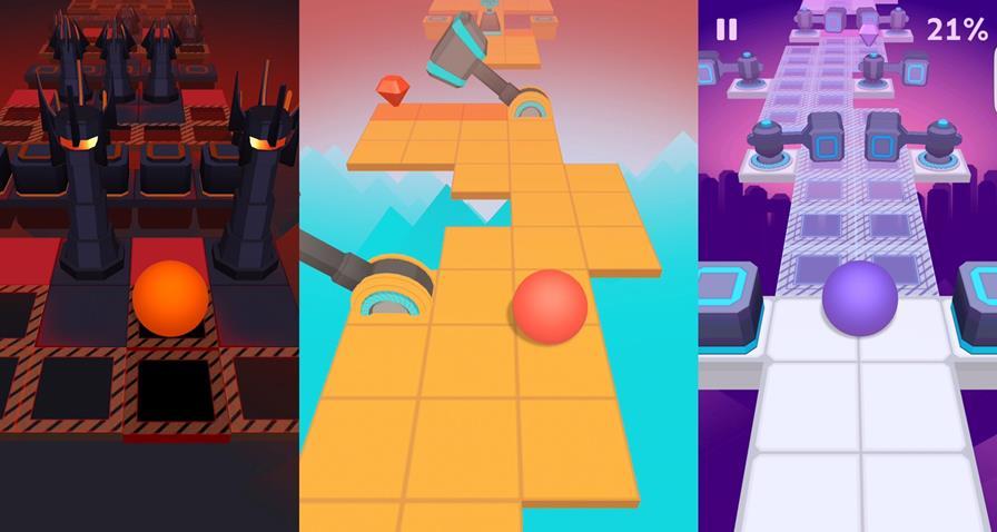 rolling-sky-android-ios Rolling Sky é um jogo de visual simples, mas muito difícil (Android e iOS)