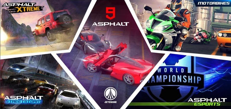 asphaltseries Lista com os próximos lançamentos da Gameloft para 2016, 2017 e 2018
