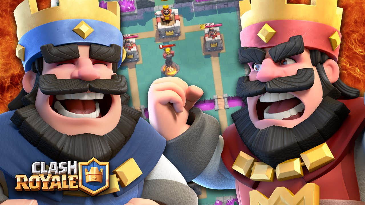batalhando-ao-vivo-no-clash-roya Clash Royale: Alguém atualizou ao máximo as cartas lendárias Princesa e Mago de Gelo