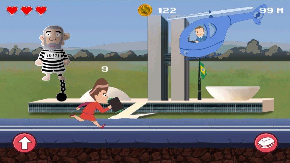 corre-dilma-android-game Jogos para Android focam na crise política, Lula, Dilma e até o Japonês da PF