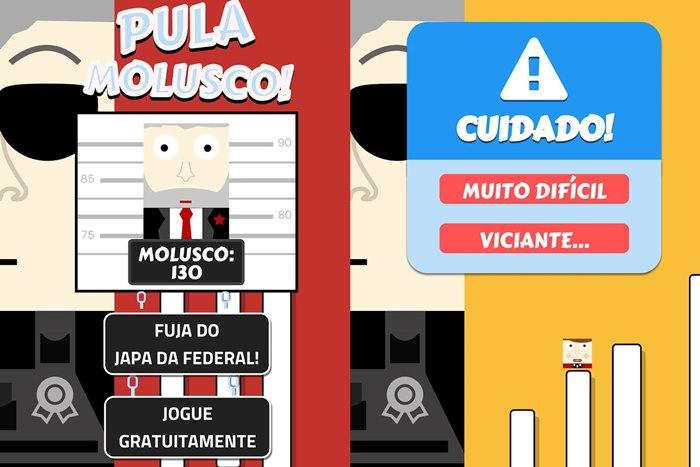pula-molusco-android-jogo Jogos para Android focam na crise política, Lula, Dilma e até o Japonês da PF