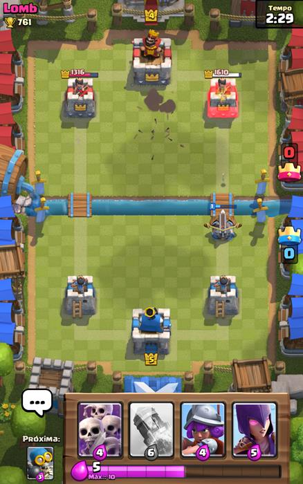 x-besta-clash-royale Clash Royale: X-Besta continua acertando torres do outro lado do rio