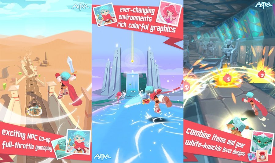 astral-origin Astral: Origin é um game de correr com fases e inimigos para atacar