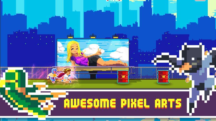 super-pixelheroes Super PixelHeroes é um runner com Super-Heróis malucos