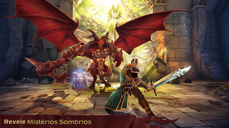 Dawnbringer é um RPG OFFLINE da Kiloo com versões para Android e iOS