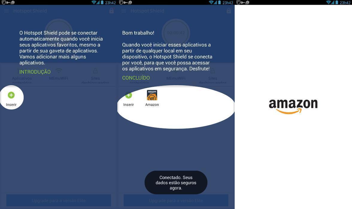 Sempre abra o APK do Amazon Underground pelo aplicativo do Hotspot VPN