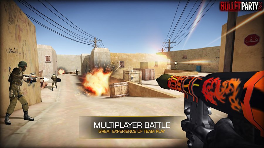 Bullet Party 2: um Counter Strike leve para Android