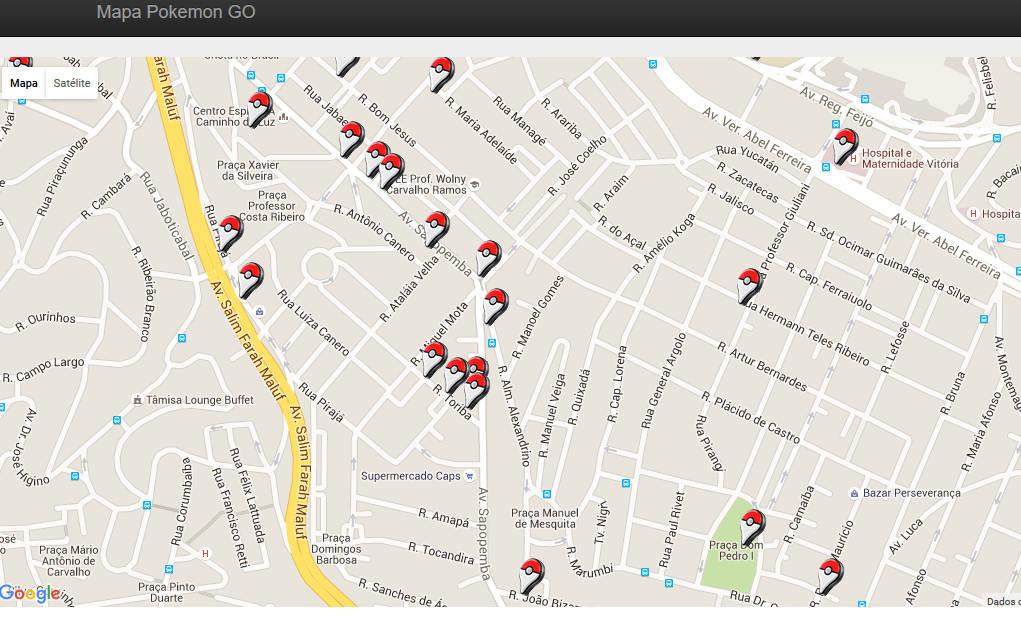 mapa-pokemon-go-mobilegamer Pokémon GO: Sites Mostram Mapas e Localização de PokéStops, Ginásios e muito mais
