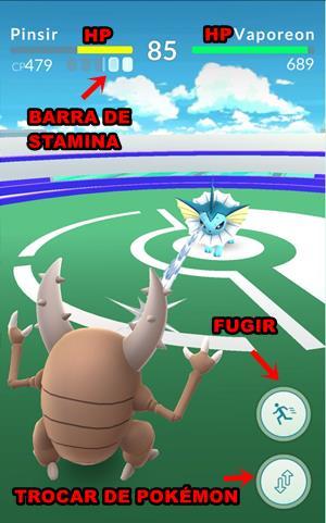 pokemon-GO-batalhas-interface-mobilegamer TUTORIAL Pokémon GO: Dicas de Como Batalhar e Vencer nos Ginásios
