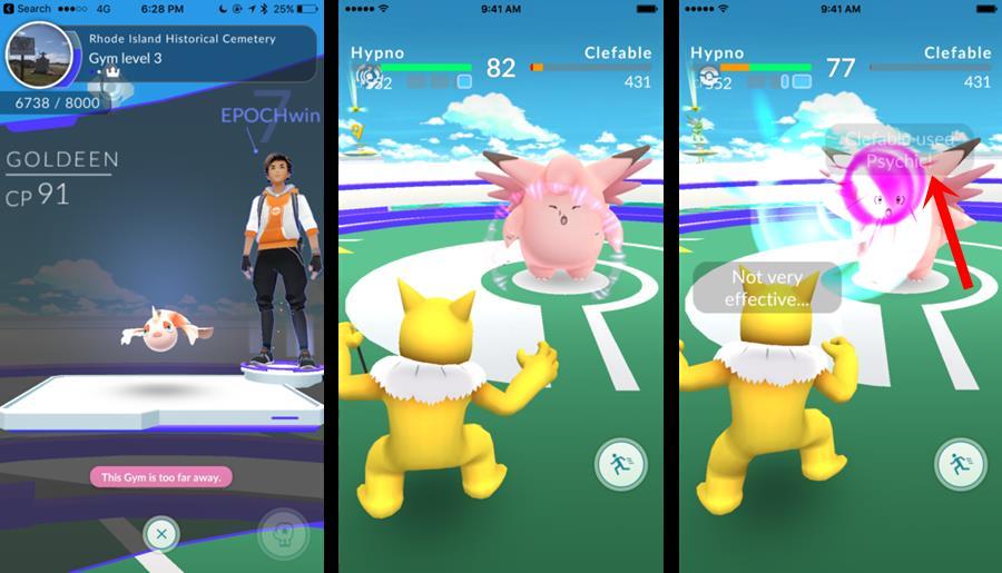 pokemon-go-batalha-ginasios TUTORIAL Pokémon GO: Dicas de Como Batalhar e Vencer nos Ginásios