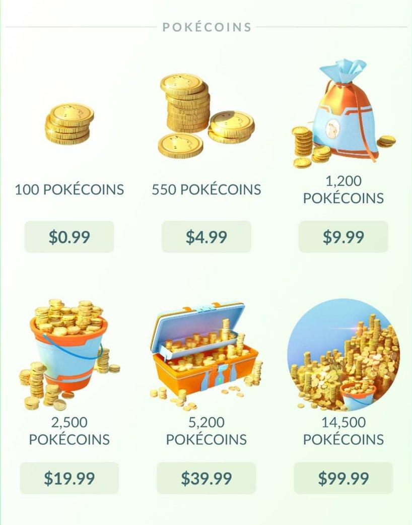 Pokécoins são a principal moeda em Pokémon GO.