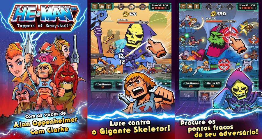 He-Man-Tappers-of-Grayskull-android-ios HE-MAN e seus amigos estão no fofinho He-Man Tappers of Grayskull para Android e iOS