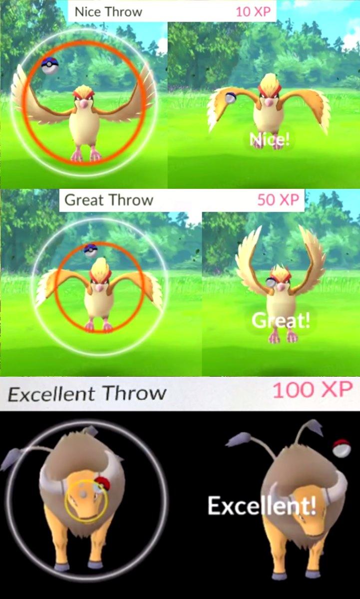 nice-excelent-great-pokemon-go-arremessos-como-jogar-pokebola-mobilegamer-tutorial TUTORIAL Pokémon GO: Dicas de Como Economizar Pokébolas