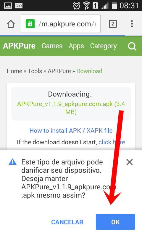 tutorial-pokemon-go-atualizado-APK-pure-3 Como deixar o APK de Pokémon GO sempre atualizado no Android (versão 0.37)