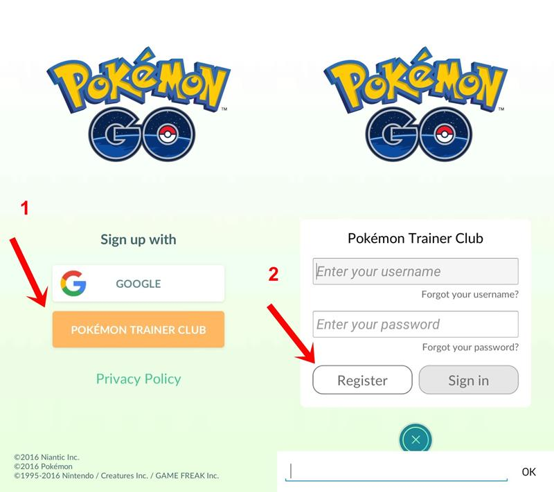how to link pokemon go google play to trainer club