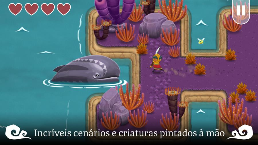 a-lenda-de-skyfish-1 A Lenda de Skyfish: game no estilo Legend of Zelda brilha no Android e iOS