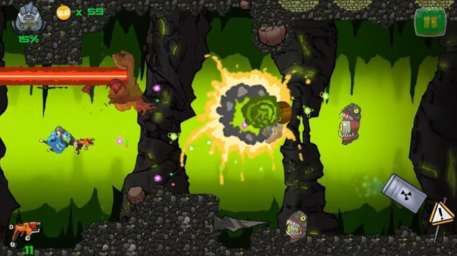 endless-mine-android-game Encare minas perigosas no jogo OFFLINE Endless Mine (Android)
