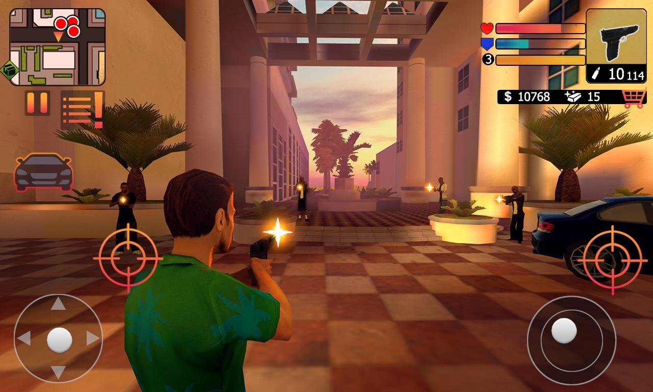 miami-saints-android-1 Miami Saints: game gratuito e OFFLINE lembra muito GTA Vice City