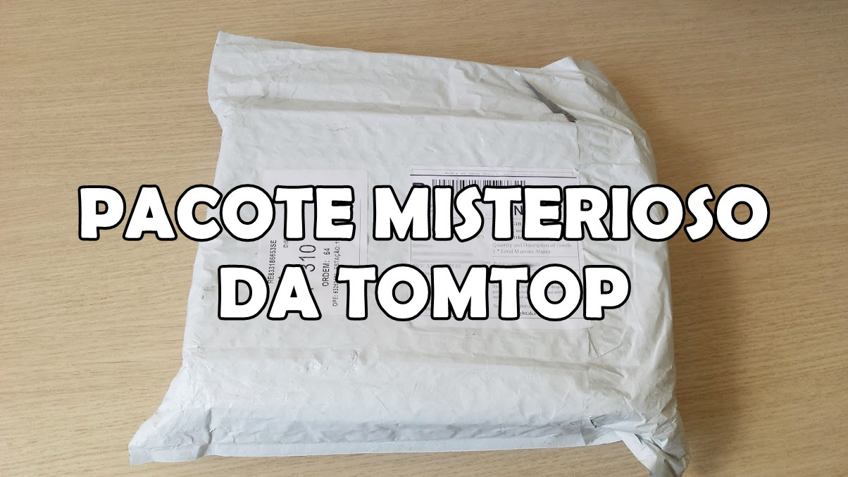 pacote-tomtop-unboxing Unboxing da caixa misteriosa da Loja Tomtop