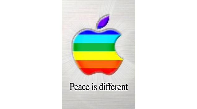 peace-is-diferent-apple-logo Opinião: odiar o iPhone e a Apple não te transforma em expert de tecnologia