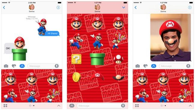 super-mario-run-stickers-ios-10 Super Mario Run Stickers chega ao iOS 10 e iMessage
