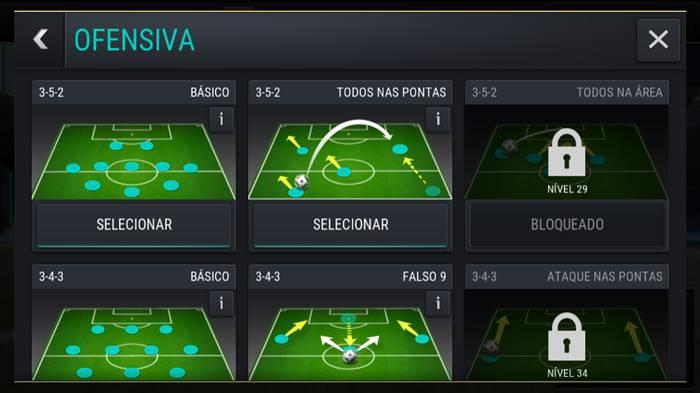 fifa-mobile-tatica-ofensiva FIFA Mobile: Dicas de como Chutar e fazer Gol Sempre
