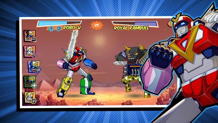 run-run-super-v-android-ios Em Run Run Super V, você comanda uma esquadrão de Super Sentai