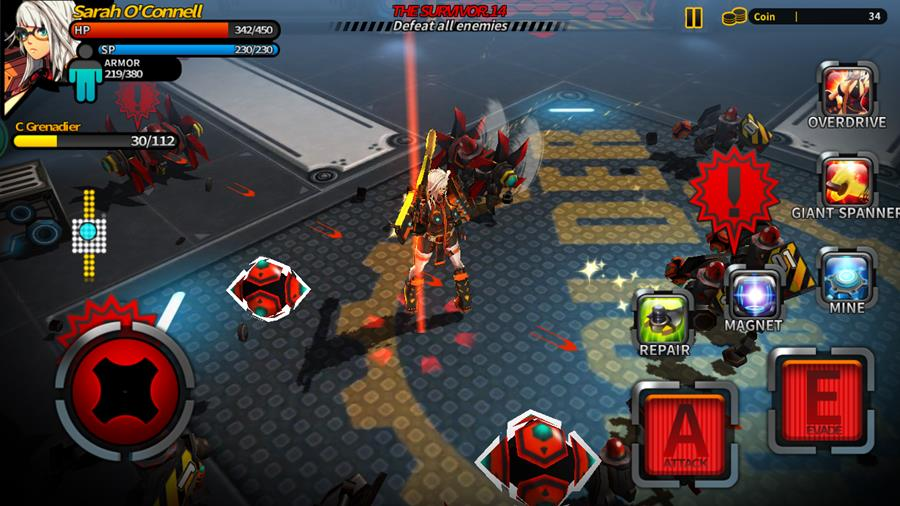 smashing-the-battle-android-ios-game-1 Smashing The Battle traz garotas de anime e muito hack'n slash para Android e iOS