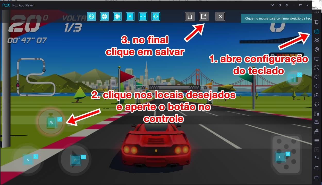 configurar-botoes-emulador-nox-player-controle-usb-joystick Como configurar o controle USB no Emulador Android Nox Player
