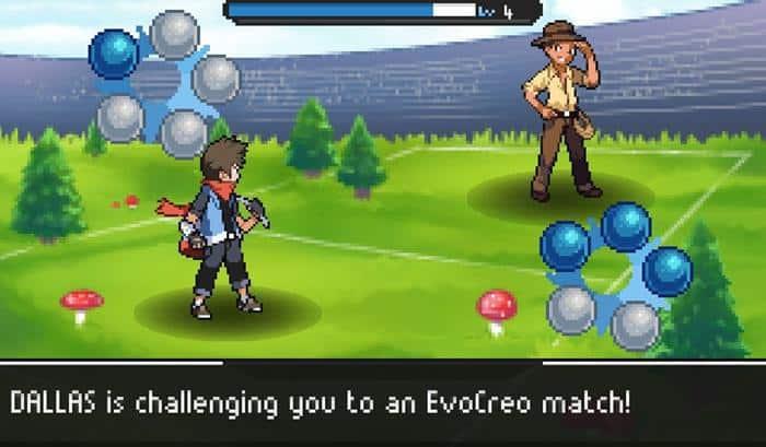 evocreo-pokemon-style-game-android 30 Melhores Jogos RPG OFFLINE para Android e iOS